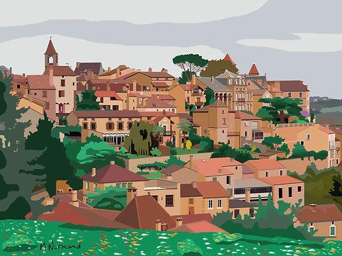 Belvès en Périgord / Poster sans cadre 30x45