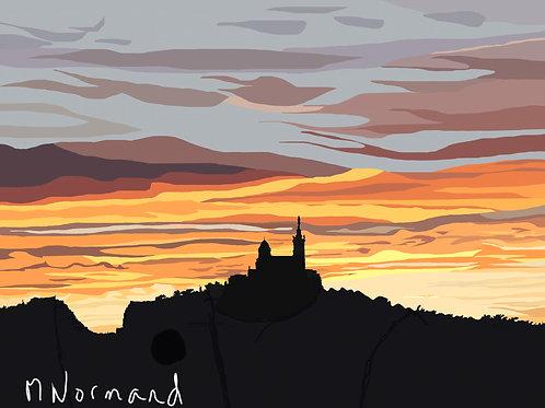 Mrs-coucher de soleil / Poster sans cadre 30x45