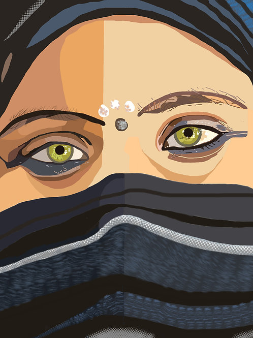 Femme indienne / Caisse américaine  3àx40