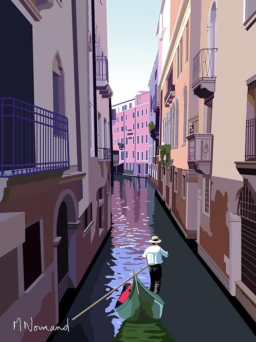 2020-05-17 Venise/ Poster encadré bois 30x45