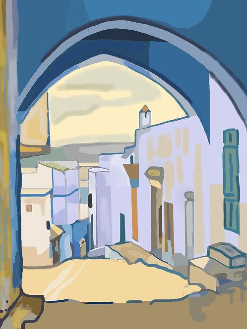 Village Maroc / Poster sans cadre 30x45