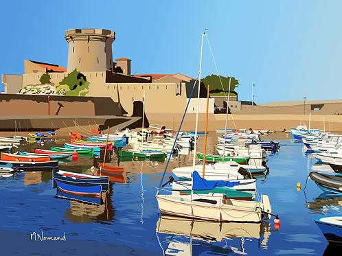 port de Ciboure/ Poster sans cadre 30x45