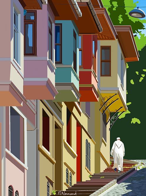 Istanbul-Vieille ville/ Poster sans cadre 30x45