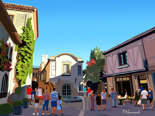 Carcassonne/ Poster sans cadre 30x45