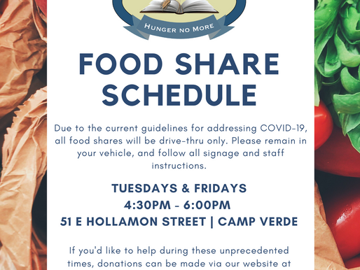 COVID-19 FOOD SHARE SCHEDULE / INSTRUCTIONS