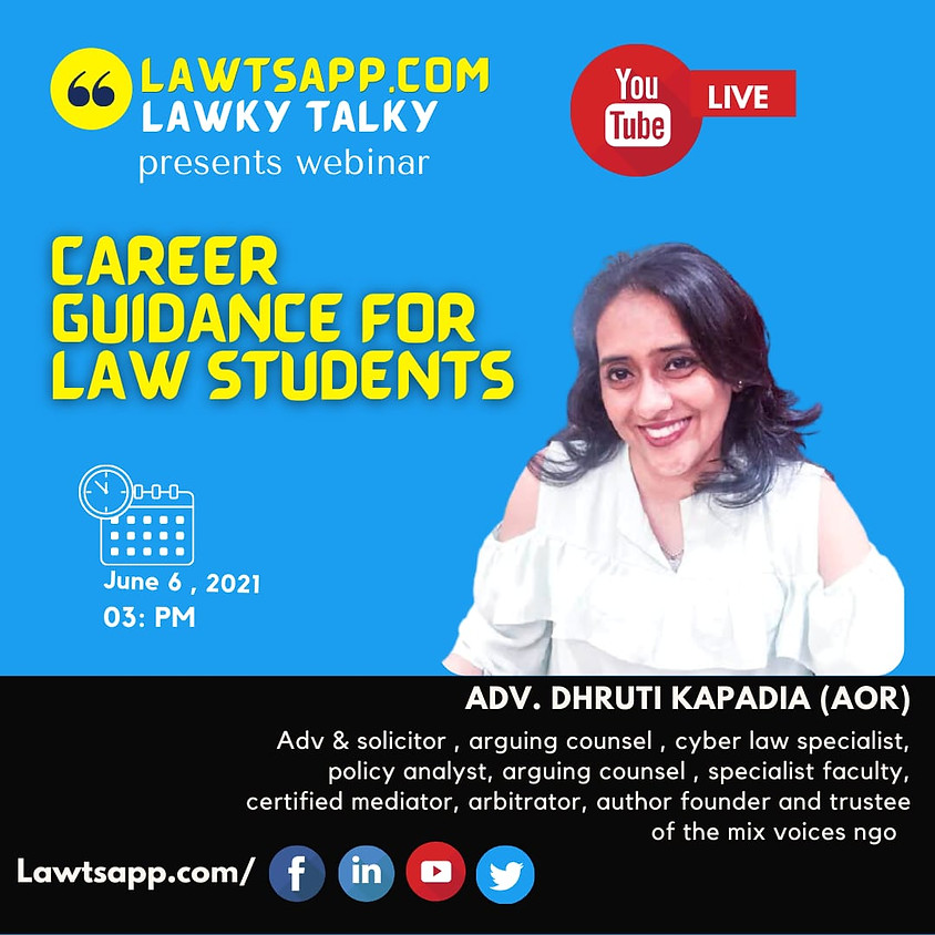 WEBINAR ON CAREER GUIDANCE FOR LAW STUDENTS