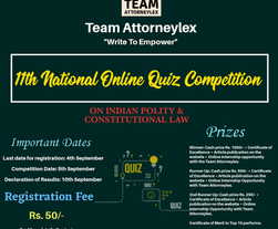 11th National Online Quiz Competition on Indian Polity & Constitutional Law