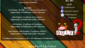 13th Online National Quiz Competition on 'IPC: Indian Penal Code, 1860'