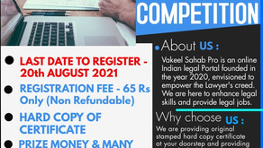 3rd National Level Article Writing Competition with Hard Copy of Certificates: Last Date - 20th Aug