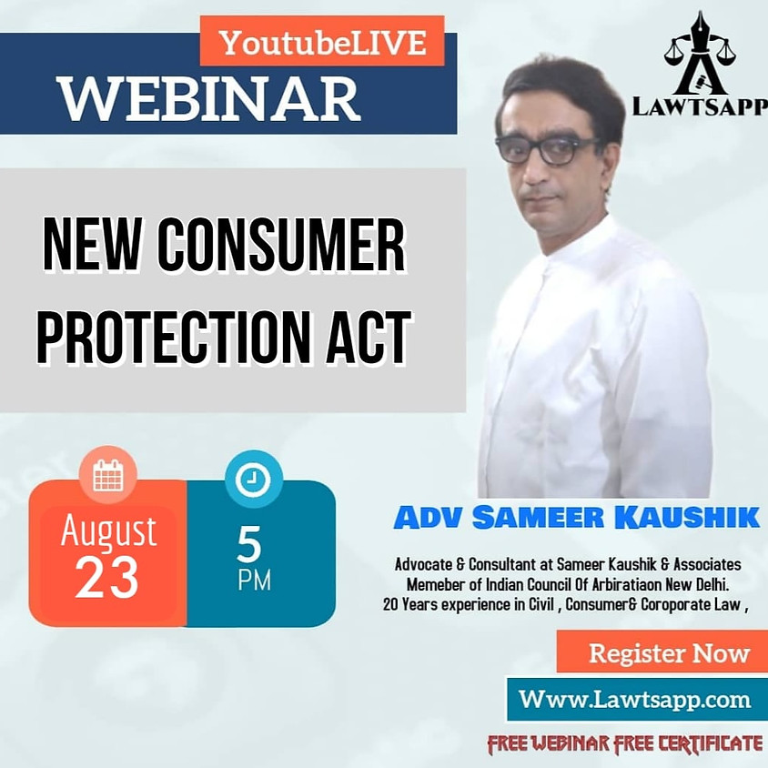 Webinar on New Consumer Protection Act