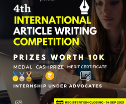 4th INTERNATIONAL ARTICLE WRITING COMPETITION BY LAWTSAPP & HI-R EDUCATION - Register Now