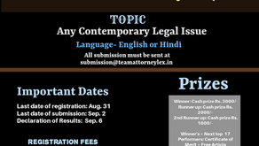 10th National Article Writing Competition Organized By Team Attorneylex: Register by August 31