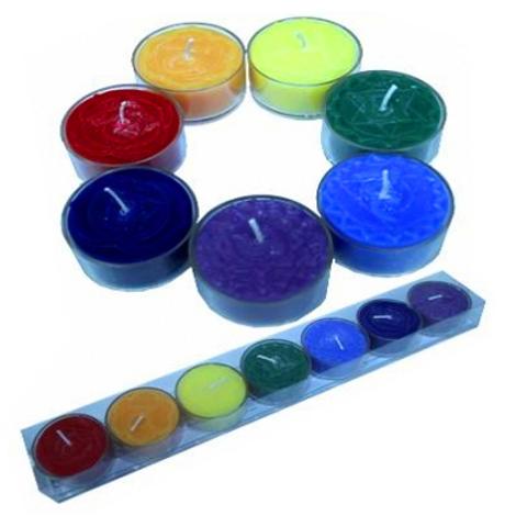 SET 7 Bougies chauffe-plat parfumées des Chakra