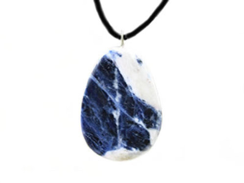 Pendentif de Sodalite pierre plate