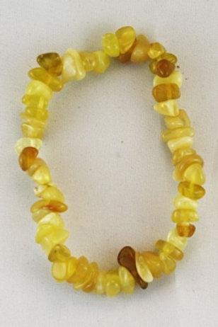 Bracelet opale jaune baroque