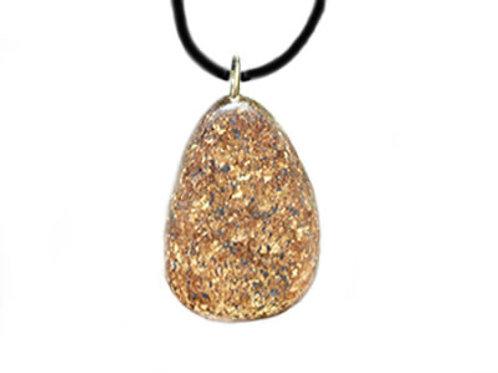 Pendentif de Bronzite pierre plate