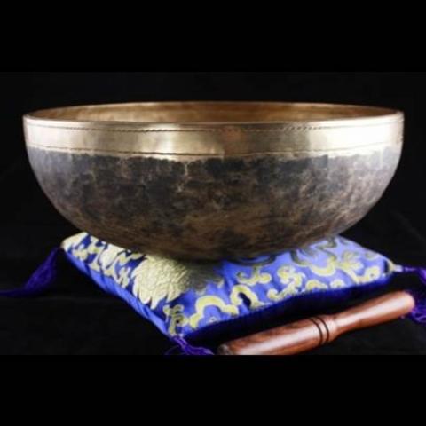 Bol Chantant Tibétain - Chaken 13/15cm avec coussin et maillet