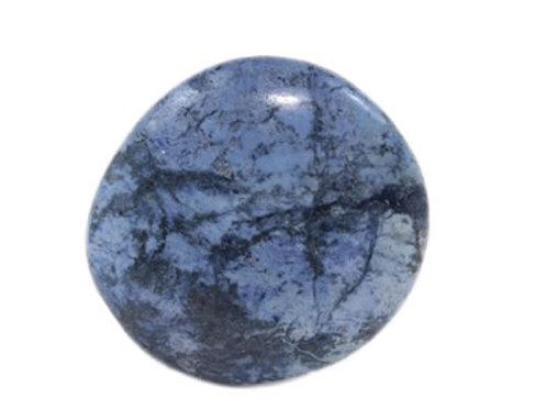 Dumortierite galet pierre plate (3 à 4 cm)