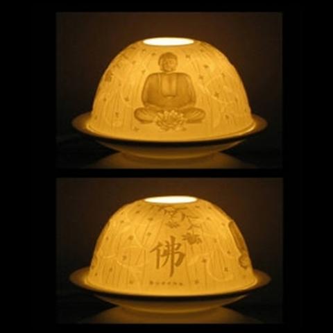 Eclairage d'ambiance en porcelaine Bouddha