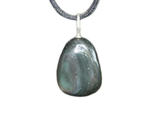 Obsidienne Oeil Céleste Pendentif pierre roulée (2 à 3 cm)