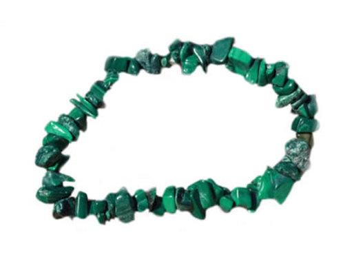 Malachite Bracelet en Pierre Baroque