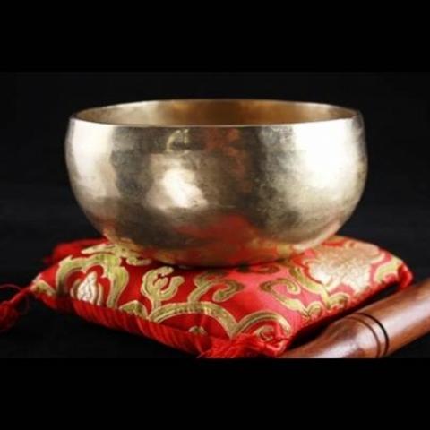 Bol Chantant Tibétain Chö-pa 18/19 cm avec coussin et maillet