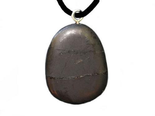 Pendentif de Shungite pierre plate