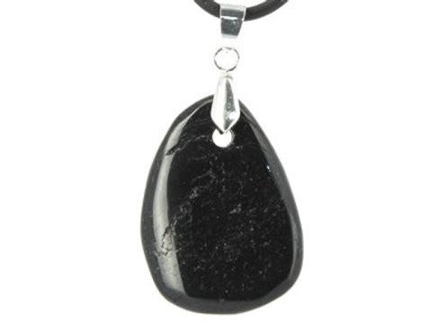 Pendentif de Tourmaline Noire pierre plate