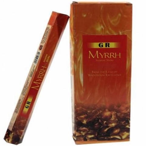 Encens Myrrh en boite hexagonale 20g