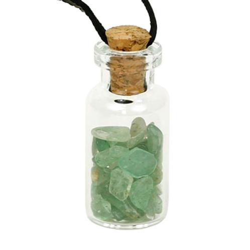 Fiole bijoux Aventurine avec cordon