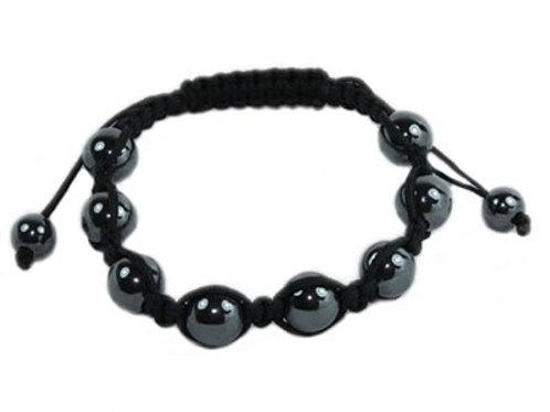 Bracelet Hématite Shamballa magnétique