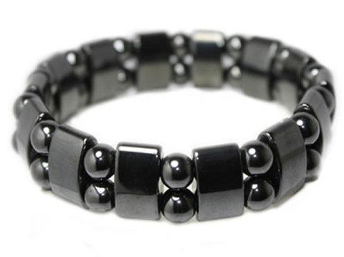 Bracelet Hématite Magnétique Plaquettes et Boules