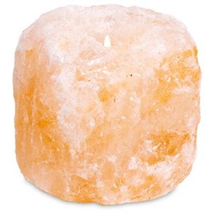 Bougeoir en cristal de sel
