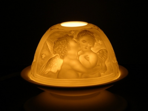 Eclairage d'ambiance en porcelaine Angelots