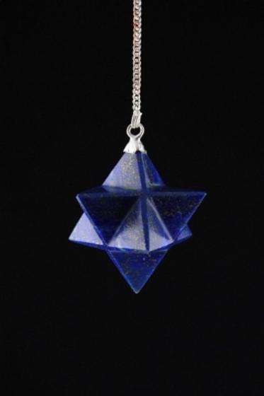 Pendule Lapis Lazuli Merkaba 8 pointes