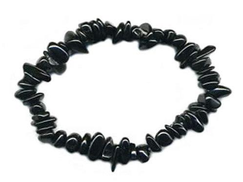 Agate Noire ou Onyx Bracelet en Pierre Baroque
