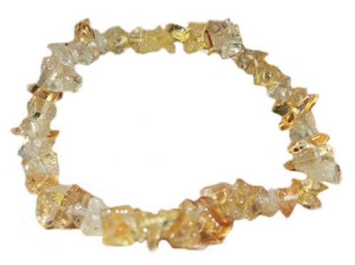 Citrine Bracelet en Pierre Baroque