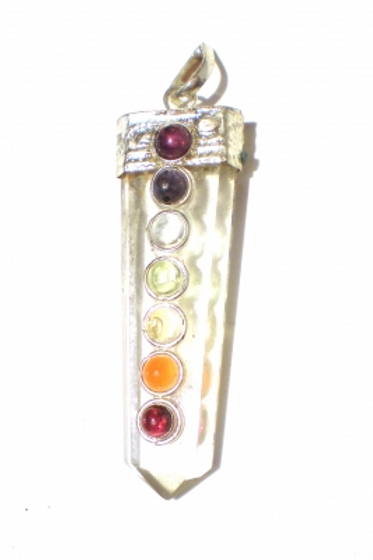 Pendentif des Chakra en cristal
