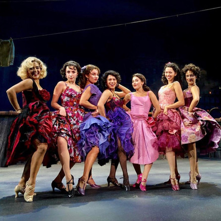"""Rehearsal photo on stage at the IHI 360 Stage Around Tokyo, """"West Side Story"""""""