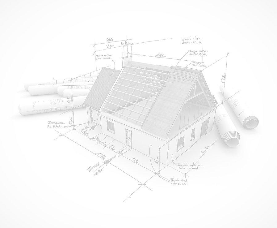3D house extension plan
