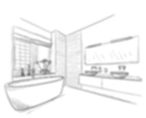 Bathroom design idea drawing
