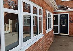 White u-PVC windows and composite door