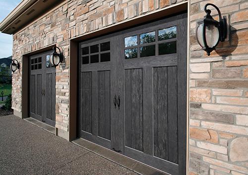 Clopay Canyon Ridge garage door in Slate finish