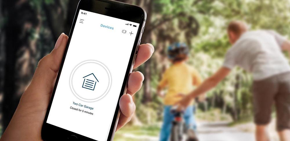 MyQ smart phone app, LiftMaster smart phone control