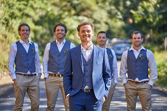 Photo of the groom and the groomsmen