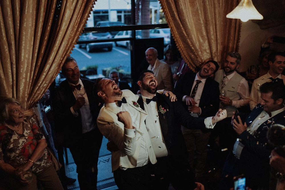 People having fun at a wedding party
