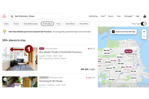 How to add to a listing to AirBnB wishlist