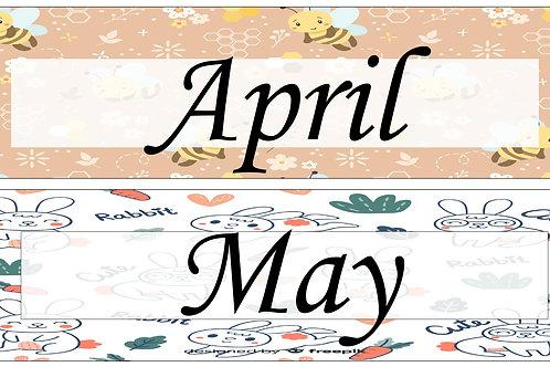 Classroom Date Decoration (Editable)