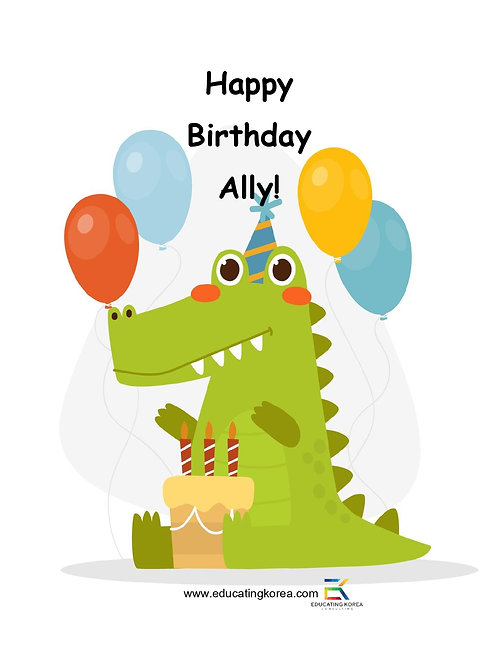 Happy Birthday Ally!