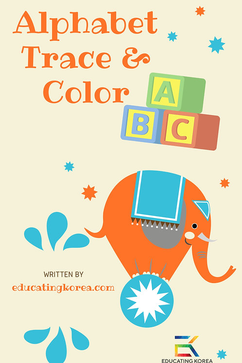Alphabet Trace & Color Workbook